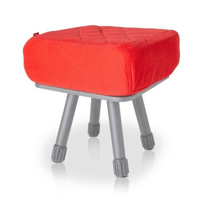 Fatboy® Krukski Stool - Red / Gray FB-KRU-RED-TGRY