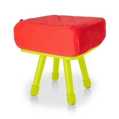 Fatboy® Krukski Stool - Red / Lime Green FB-KRU-RED-TLGR