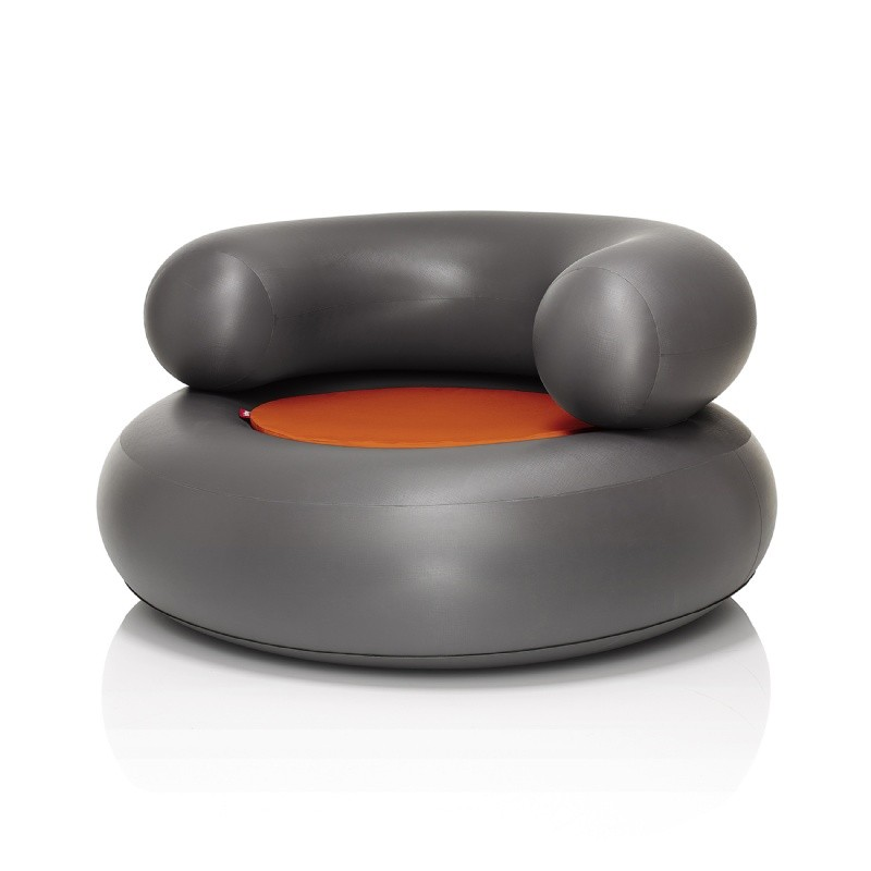 Fatboy® CH-AIR Anthracite with Orange Pillow