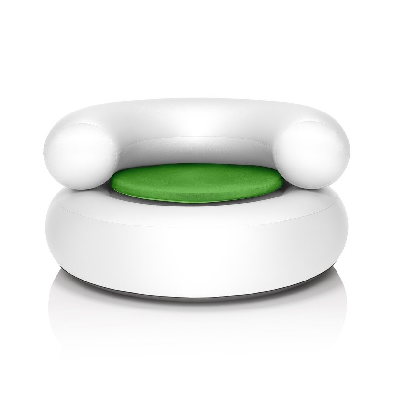 Fatboy® CH-AIR White with Green Pillow