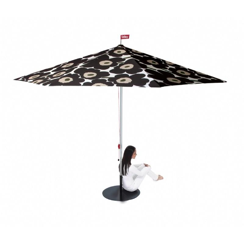 flowerpowersol 11 feet patio umbrella unikko black fb fps