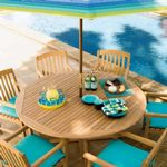 Shorea Wood Chadwick Outdoor Dining Set 7 Piece OG-CH7SET