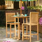 Shorea Wood Sonoma Outdoor Bar Set 3 piece OG-SB3SET