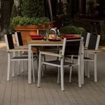 Travira Aluminum Outdoor Dining Set 7 piece Black Slings OG-TVSB7SET