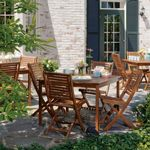 Capri Acacia Wood Outdoor Dining Set 5 pcs. OG-CPFC5SET