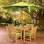 Shorea Wood Classic Outdoor Dining Set 5 piece OG-CDCH5SET