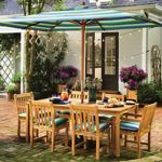 Shorea Wood Classic Rectangle Outdoor Dining Set 7 piece OG-CDCH7RCTSET