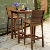 Shorea Wood Dartmoor Outdoor Bar Set 3 Piece Brown Umber OG-DM3SETU