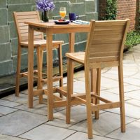 Shorea Wood Dartmoor Outdoor Bar Set 3 Piece Natural OG-DM3SET