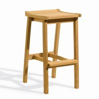 Shorea Wood Dartmoor Outdoor Bar Stool Natural OG-DMST
