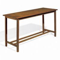 Shorea Wood Dartmoor Rectangle Outdoor Bar Table 79 inch Brown Umber OG-DM79TAU