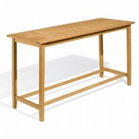 Shorea Wood Dartmoor Rectangle Outdoor Bar Table 79 inch Natural OG-DM79TA