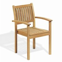 Shorea Wood Warwick Stacking Outdoor Arm Chair OG-WSCH
