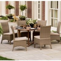 Torbay Outdoor Wicker Round Patio Dining Set 7 Piece OG-TBSCA-SET7
