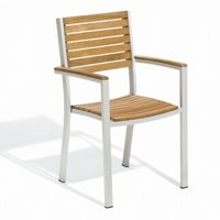 Travira Aluminum Teak Stackable Dining Chair OG-TVCHT2