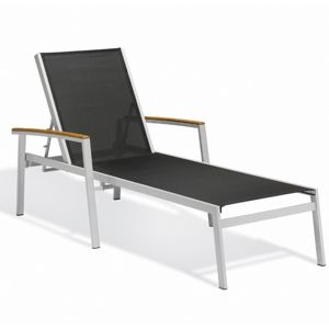 Travira Aluminum Sling Stackable Chaise Lounge Black OG-TVL80B