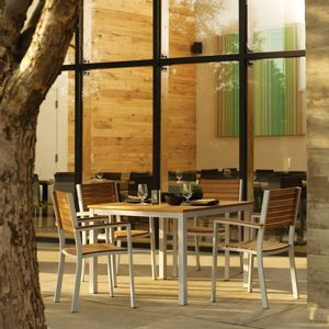 Travira Aluminum and Teak Outdoor Dining Set 5 piece OG-TVCHT5SET