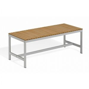 Travira Aluminum Tekwood Natural Backless Outdoor Bench 4 Feet OG-TVBB48N