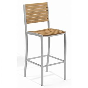 Travira Aluminum Tekwood Natural Outdoor Bar Chair OG-TVBCHN