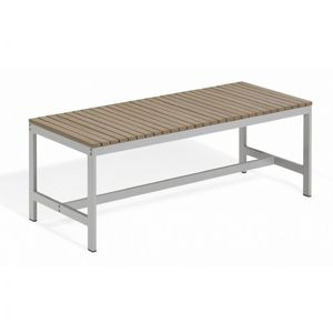 Travira Aluminum Tekwood Vintage Backless Outdoor Bench 4 Feet OG-TVBB48V