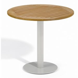 Travira Steel Tekwood Natural Top Outdoor Bistro Table 32 Inch OG-TV32TAN