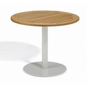 Travira Steel Tekwood Natural Top Outdoor Bistro Table 36 Inch OG-TV36TAN