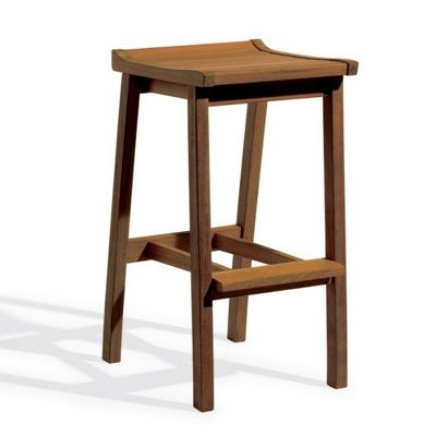 Shorea Wood Dartmoor Outdoor Bar Stool Brown Umber OG-DMSTU