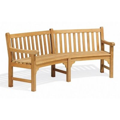 Shorea Wood Essex Outdoor Curved Bench 83 inch OG-EXC83