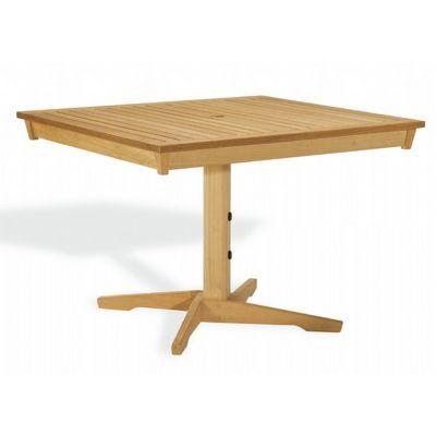 shorea wood rectangle pedestal outdoor dining table 45 inch og ha45pt cozydays. Black Bedroom Furniture Sets. Home Design Ideas