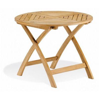 Shorea Wood Somerset Round Folding Outdoor Dining Table Inch OG - 36 round outdoor dining table