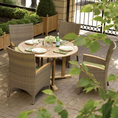 Torbay Outdoor Wicker Round Patio Dining Set 5 Piece OG-TBSCA-SET5