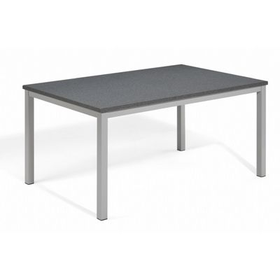 Travira Aluminum Alstone Graphite Top Rectangle Dining Table 63 Inch OG-TV63TAP