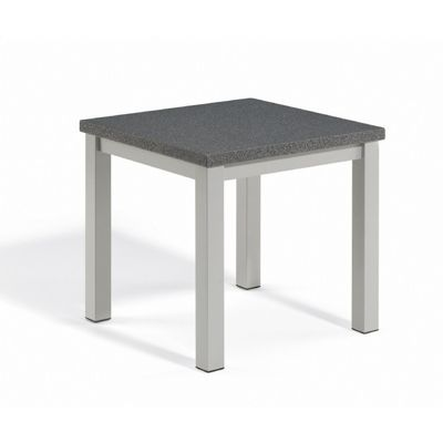Travira Aluminum Alstone Graphite Top Square Side Table OG-TVETP