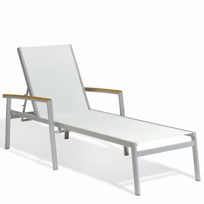 Travira Aluminum Sling Stackable Chaise Lounge Natural OG-TVL80C