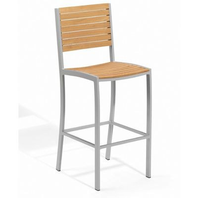 Travira Aluminum Teak Outdoor Bar Chair OG-TVBCH