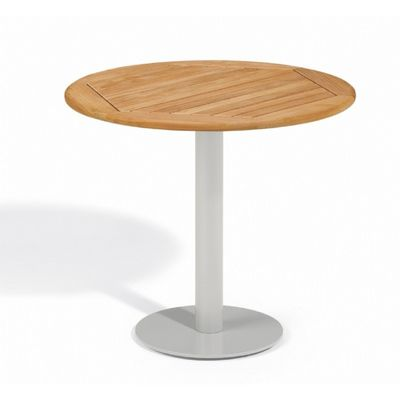 Travira Steel Teak-Top Outdoor Bistro Table 32 Inch OG-TV32TA