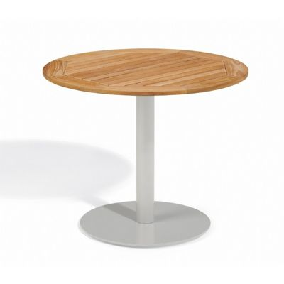 Travira Steel Teak-Top Outdoor Bistro Table 36 Inch OG-TV36TA