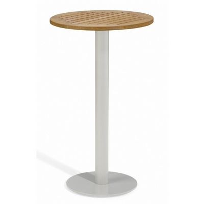 Travira Steel Tekwood Natural Top Outdoor Bar Table 24 Inch OG-TV24BRN