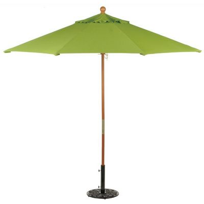 Wood Pole Octagon Market Umbrella 9 Feet Shade - Stripes OG-U9