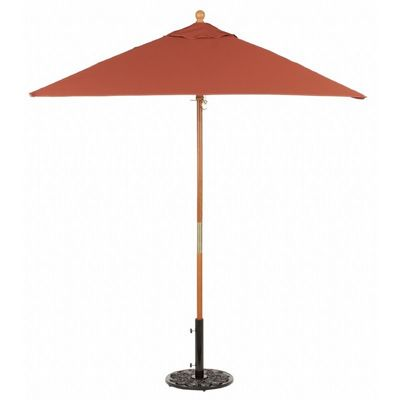 Wood Pole Square Market Umbrella 6 Feet Shade - Stripes OG-US6