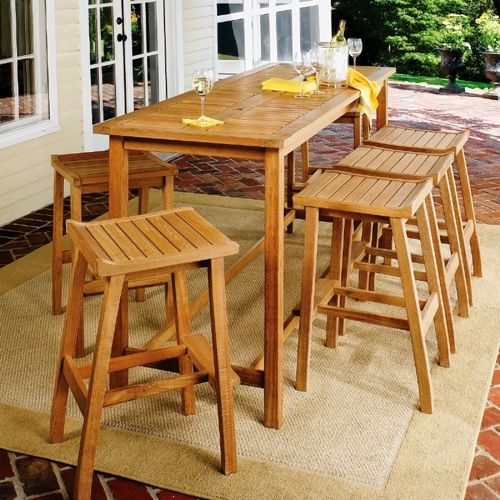 Shorea Wood Dartmoor Outdoor Bar Set 7 Piece Natural OG-DM7SET