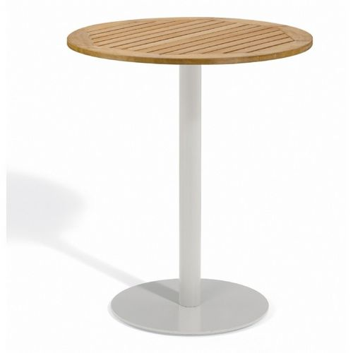 Travira Steel Teak Top Outdoor Bar Table 36 Inch OG-TV36BR