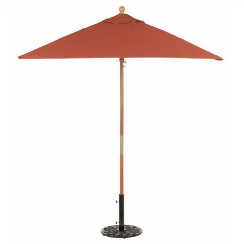Wood Pole Square Market Umbrella 6 Feet Shade OG-US6