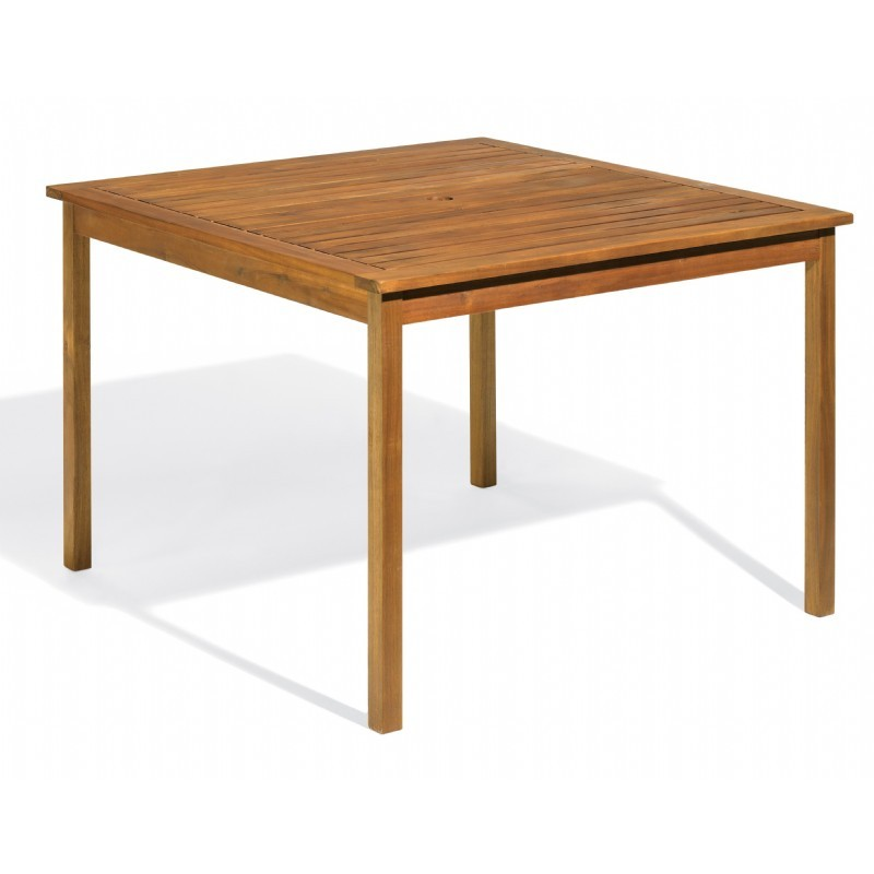 Commercial Capri Acacia Wood Square Dining Table 42 inch