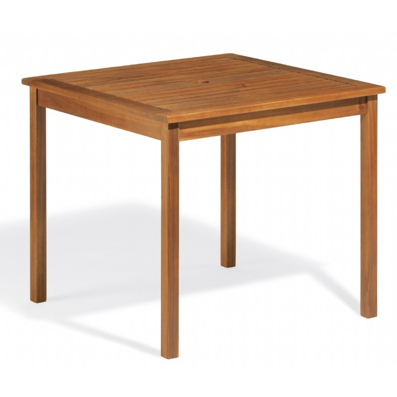 Capri Acacia Wood Square Outdoor Dining Table 34 Inch