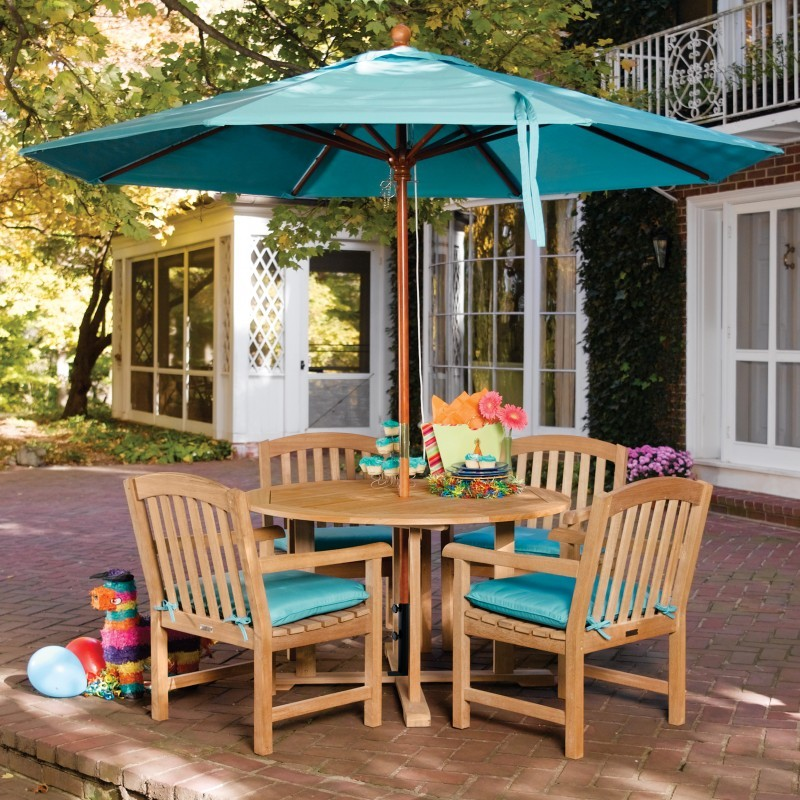 Shorea Wood Chadwick Outdoor Dining Set 5 Piece