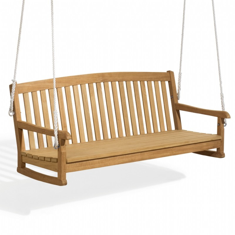 Outdoor Furniture: Oxford Garden: Shorea Wood Chadwick Outdoor Swing Bench 5 Feet