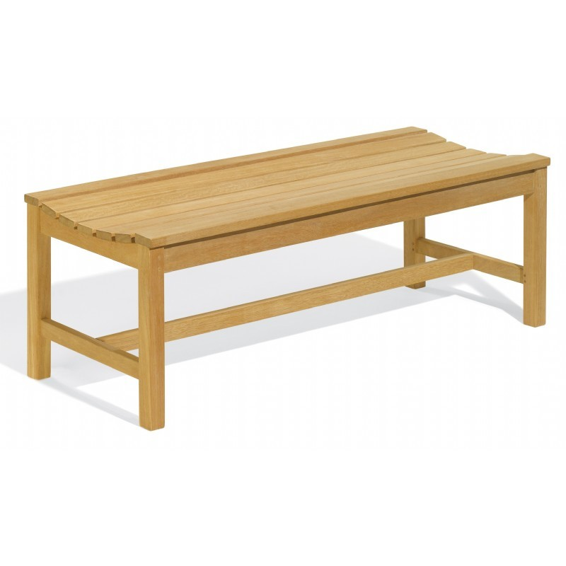 Shorea Wood Classic Backless Outdoor Bench 4 Feet