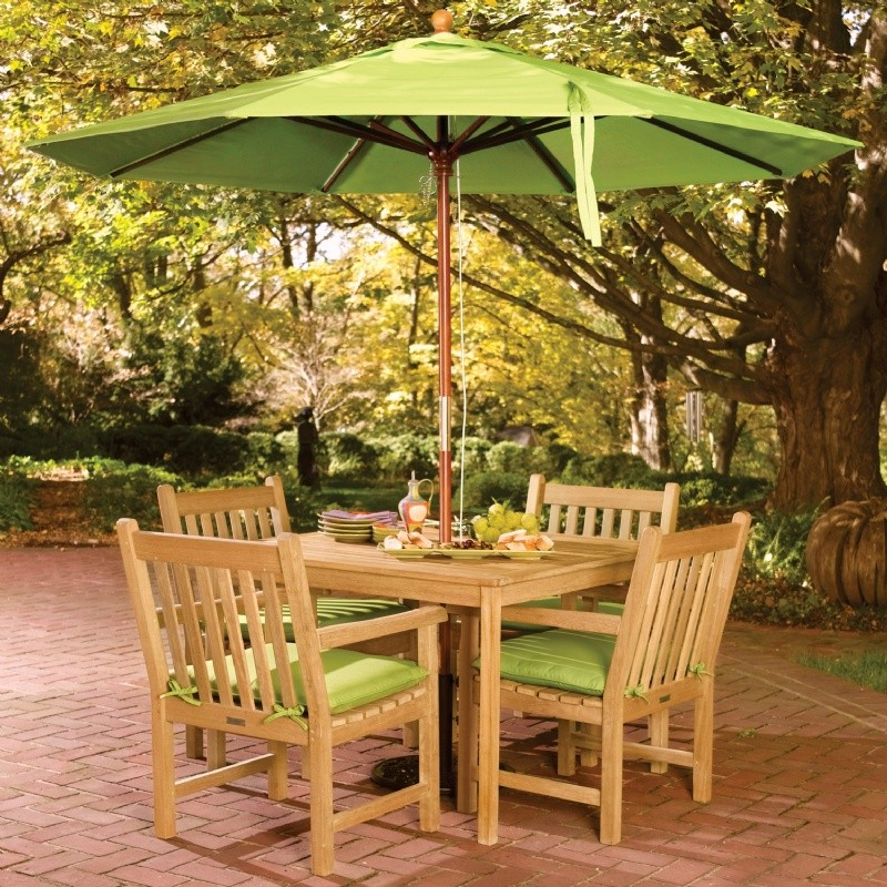 Shorea Wood Classic Outdoor Dining Set 5 piece