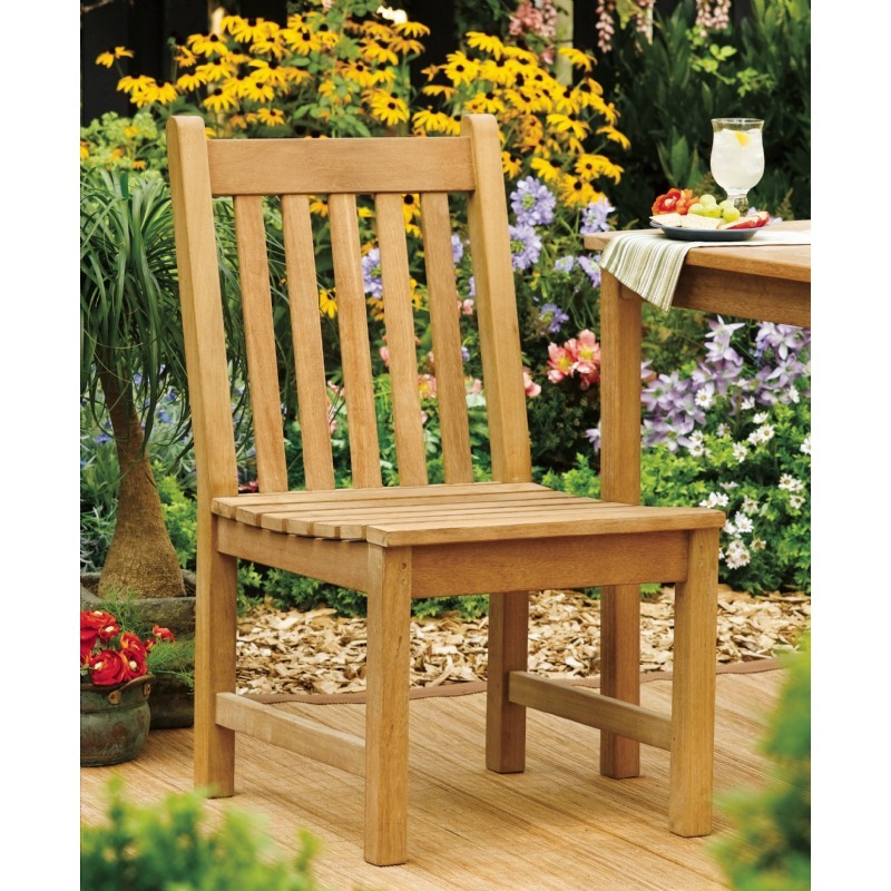 Shorea Wood Classic Outdoor Side Chair alternative photo #0